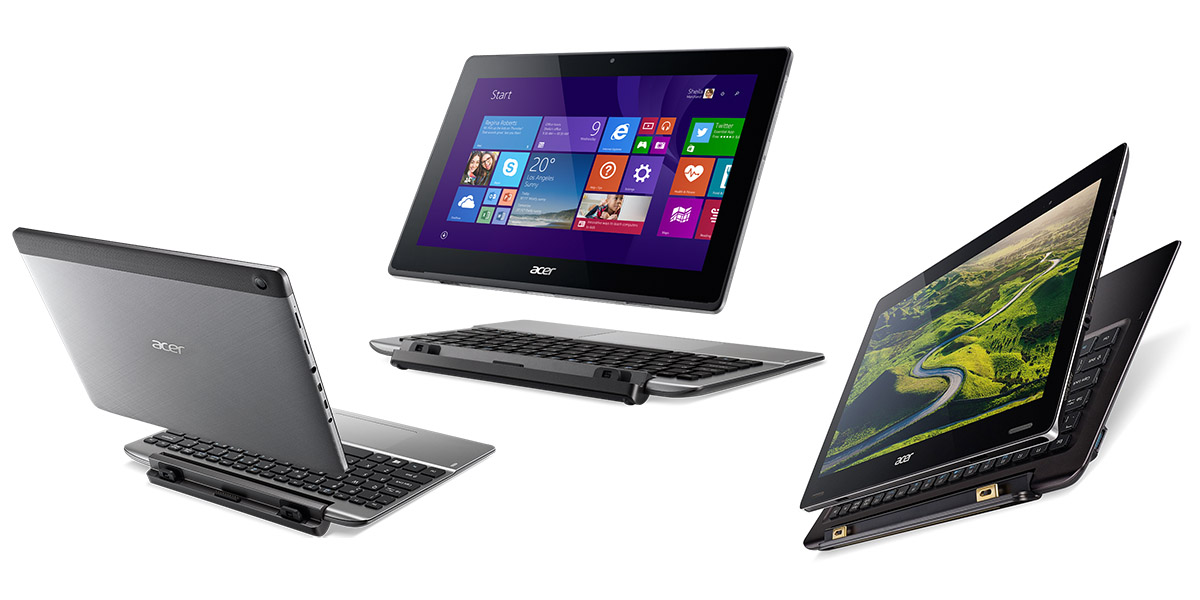 Свежие трансформеры от компании Acer- Switch 10 V, Switch 11 V, Switch 12 S