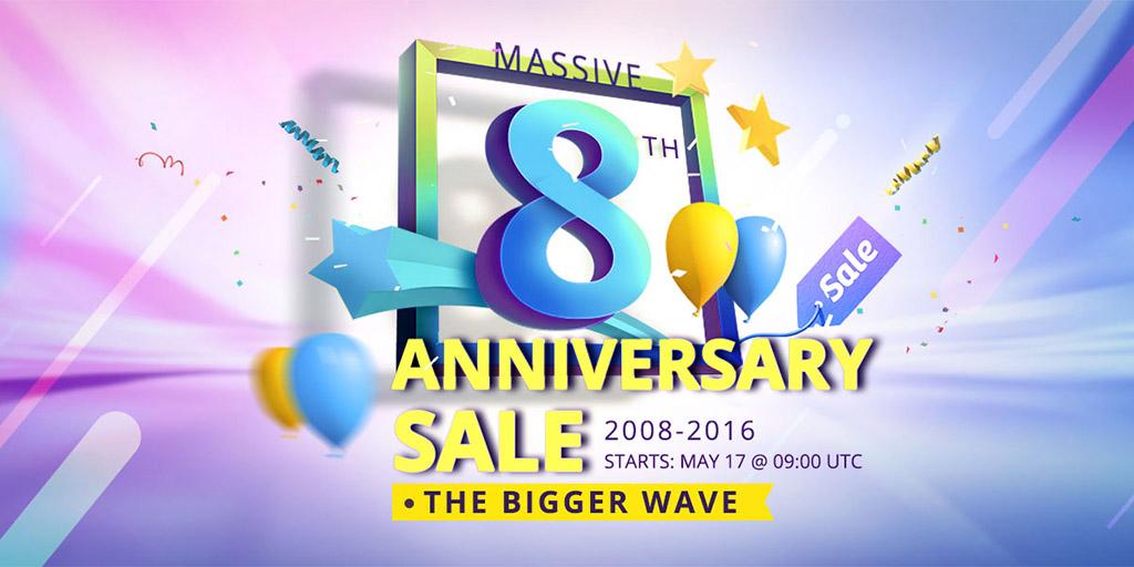 Распродажа в честь восьмилетия магазина Everbuying