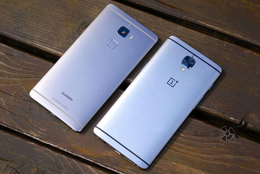 OnePlus 3 и Huawei Mate S