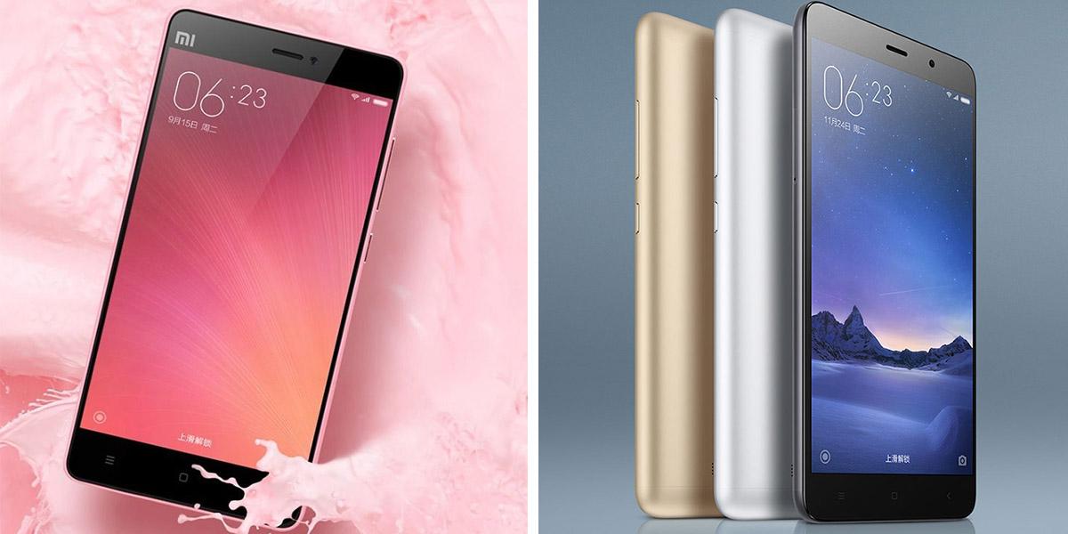 Xiaomi Mi4C и Xiaomi Redmi Note 3 Pro
