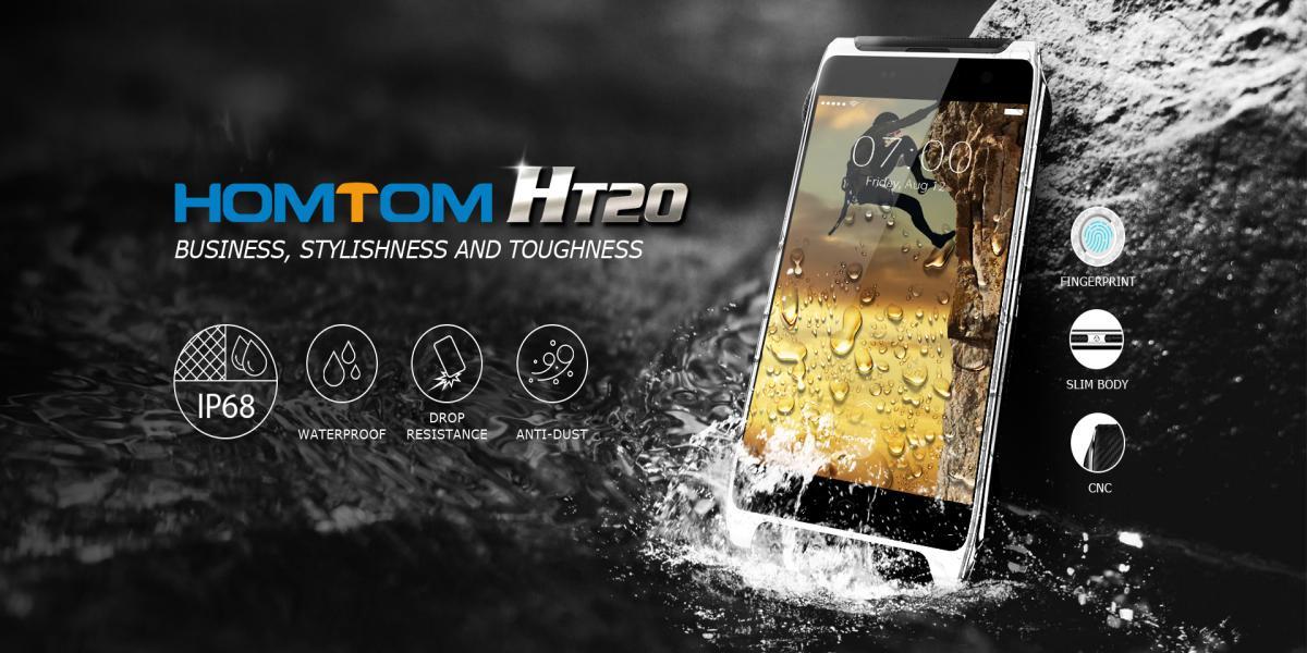Homtom HT20 – первый защищенный смартфон производителя
