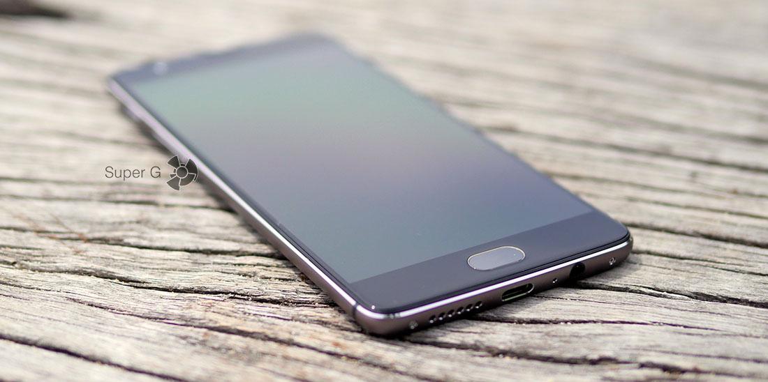 Работа сканера отпечатков пальцев в OnePlus 3T