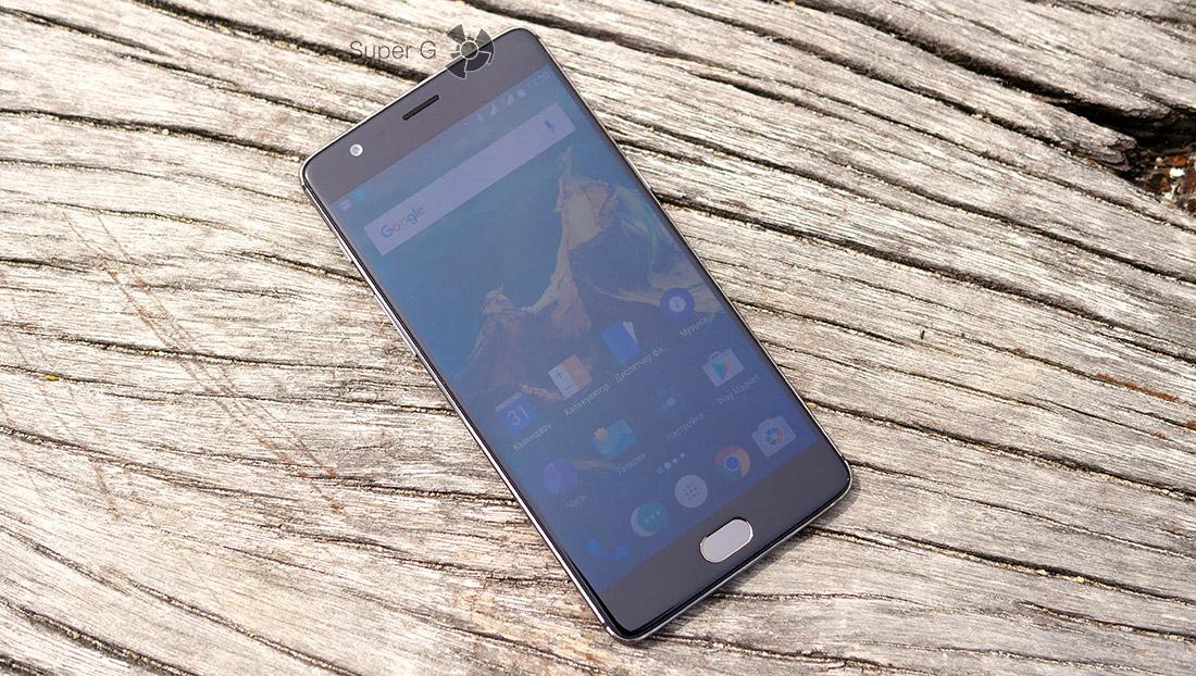 Дисплей OnePlus 3T во включенном состоянии