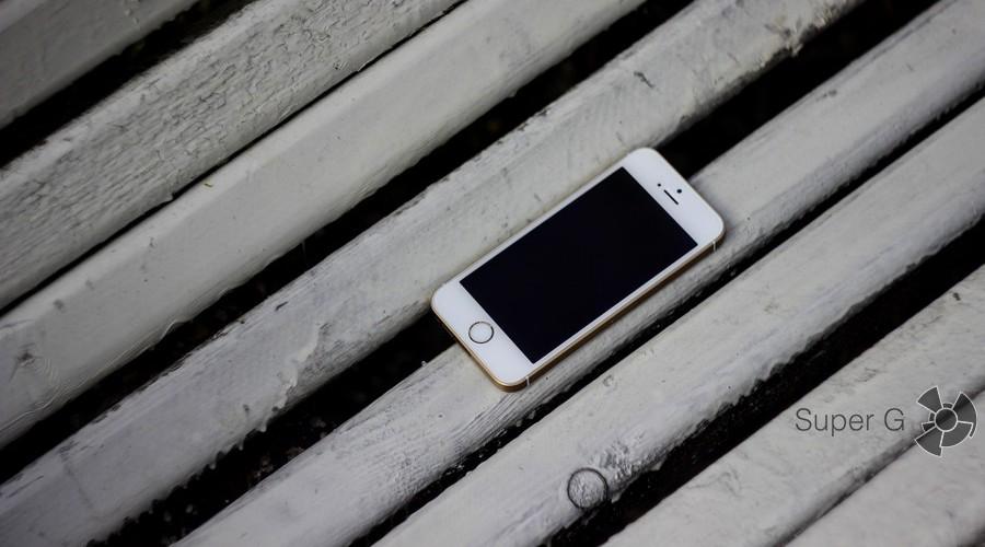 Золотой iPhone SE