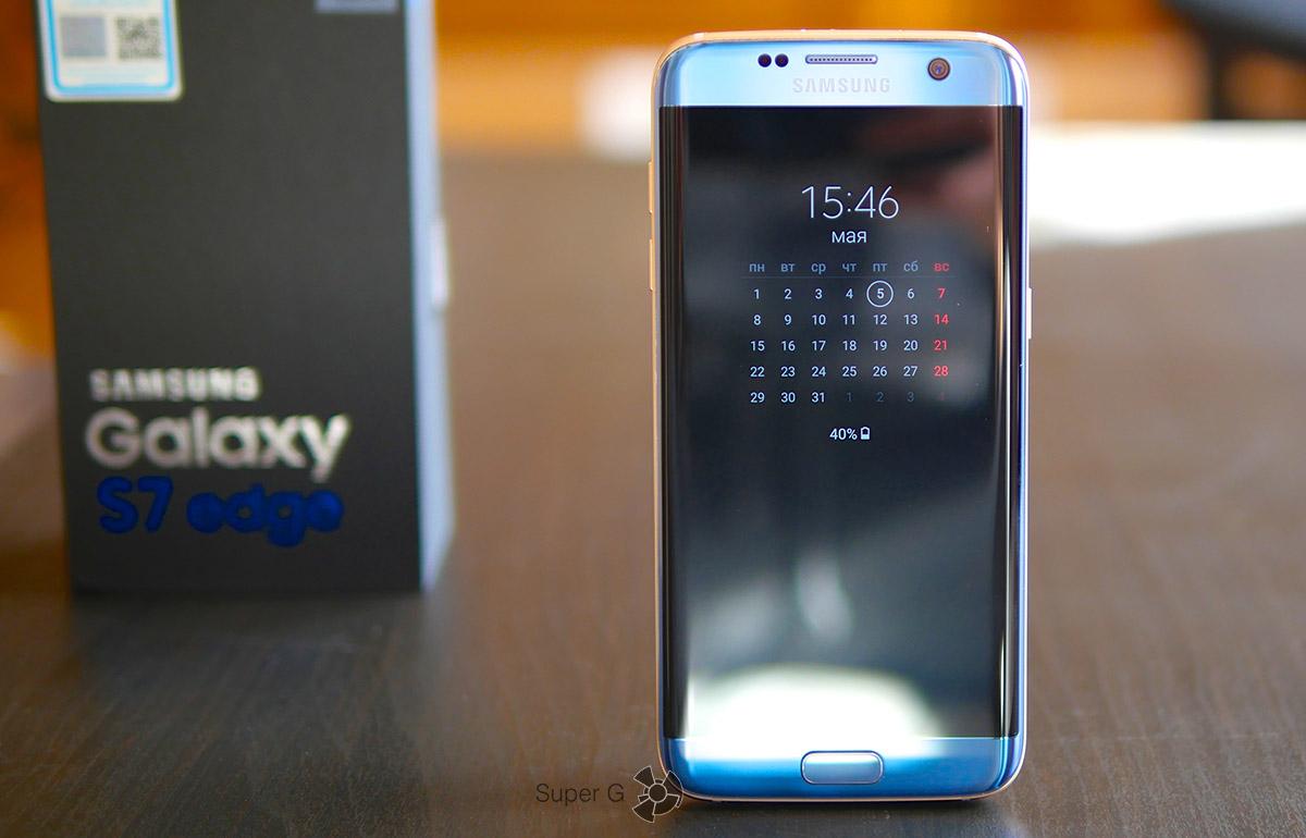 Смартфон Samsung Galaxy S7 Edge Dous Blue Coral