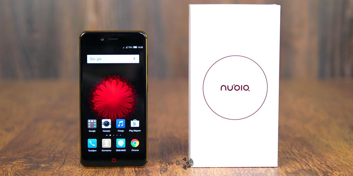 Nubia Z17 mini и коробка из-под смартфона