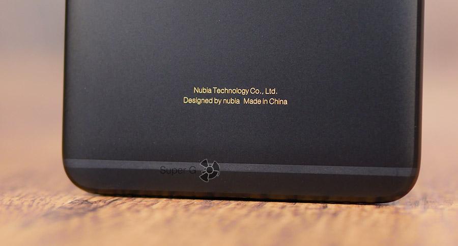 Информация о сборке и производстве Nubia Z17 mini
