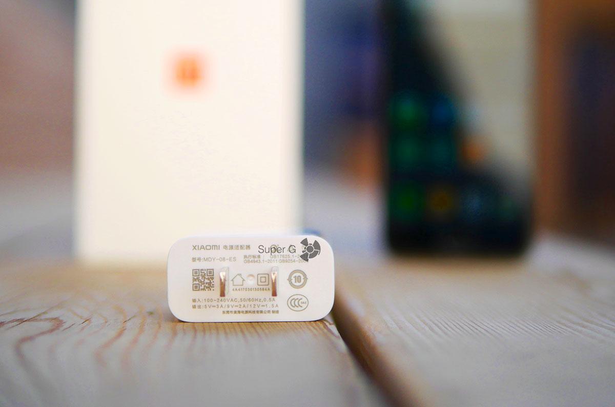 Блок питания для зарядки Xiaomi Mi6 из комплекта
