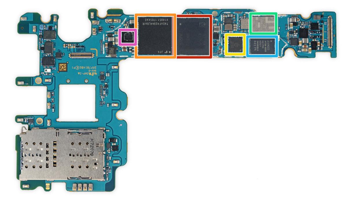 В Samsung Galaxy S8 установлена память Toshiba THGAF4G9N4LBAIR 64 GB UFS