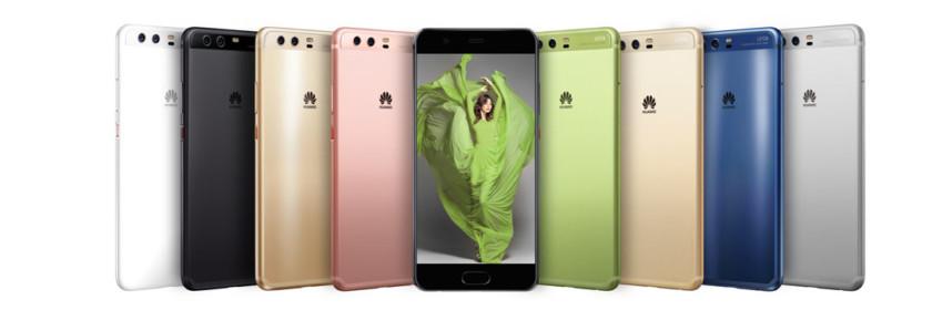 Доступные цвета Huawei P10 Plus