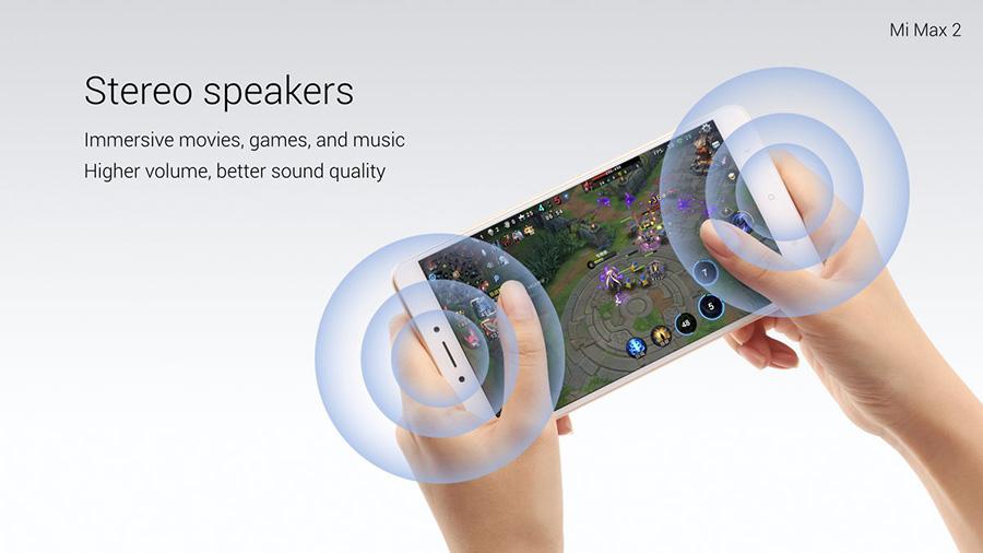 Xiaomi Mi Max 2 динамики