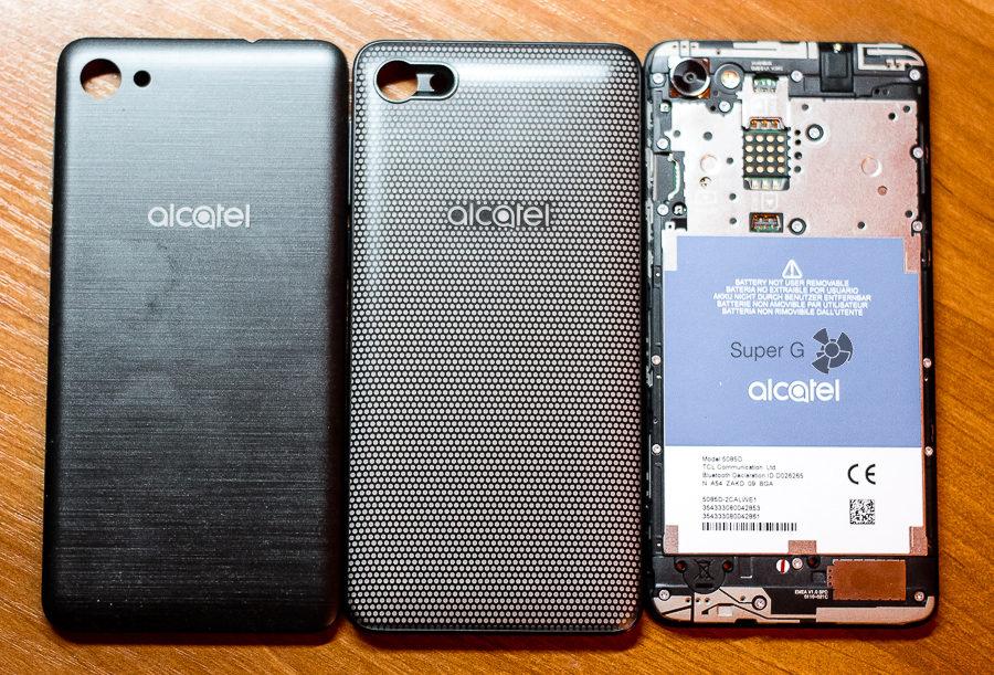 Внешний вид Alcatel A5 LED