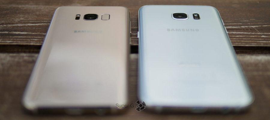 Камера у Samsung Galaxy S8 выпирает заметно меньше, чем у Samsung Galaxy S7 Edge
