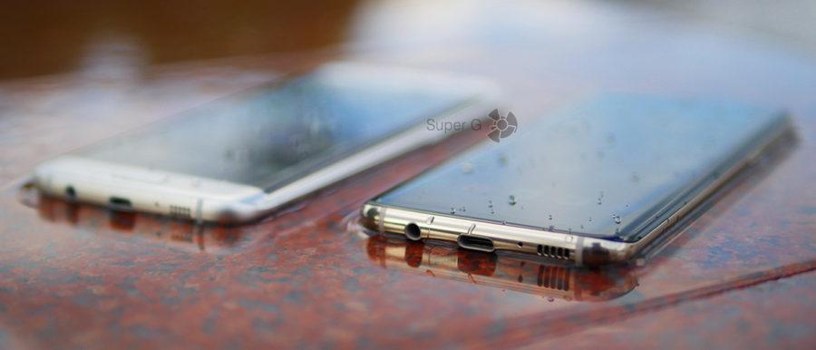 Оба смартфона (Samsung Galaxy S8 и Samsung Galaxy S7 Edge) имеют защиту по стандарту IP68