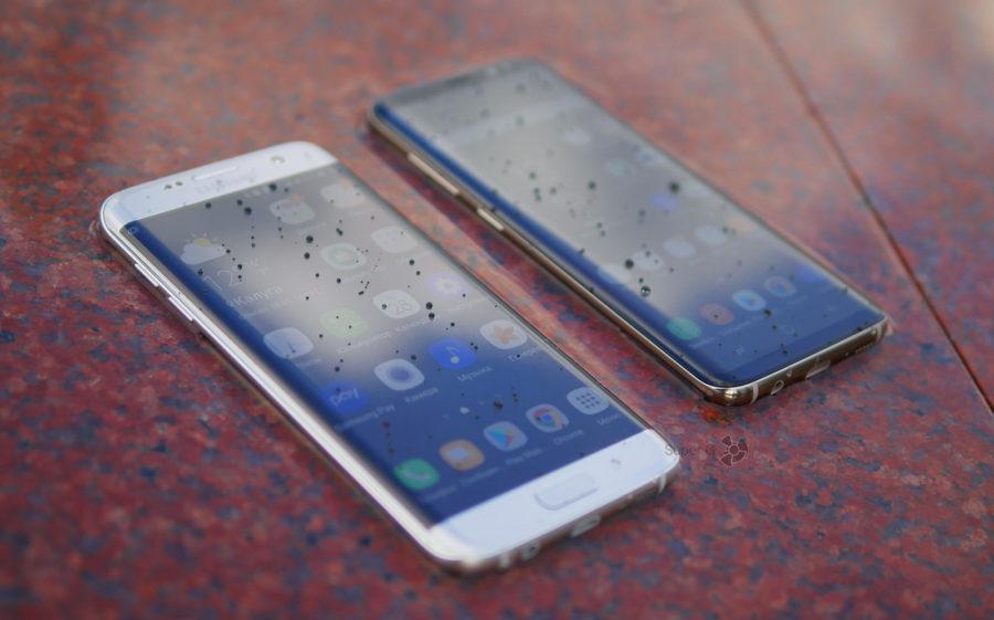 Тест Samsung Galaxy S8 и Samsung Galaxy S7 Edge в воде