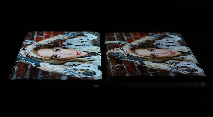 Экран Samsung Galaxy S8 слева, дисплей Samsung Galaxy S7 Edge справа (4)