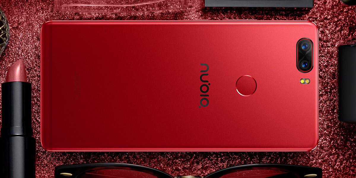 Красный смартфон ZTE Nubia Z17