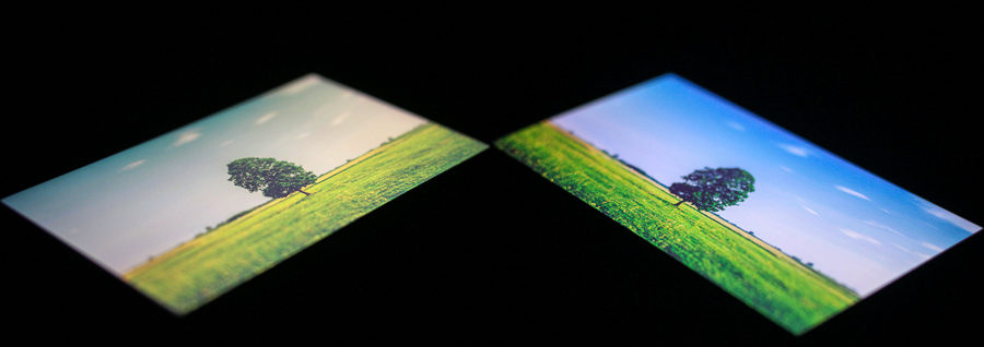 Экран Alcatel A5 LED под различными углами