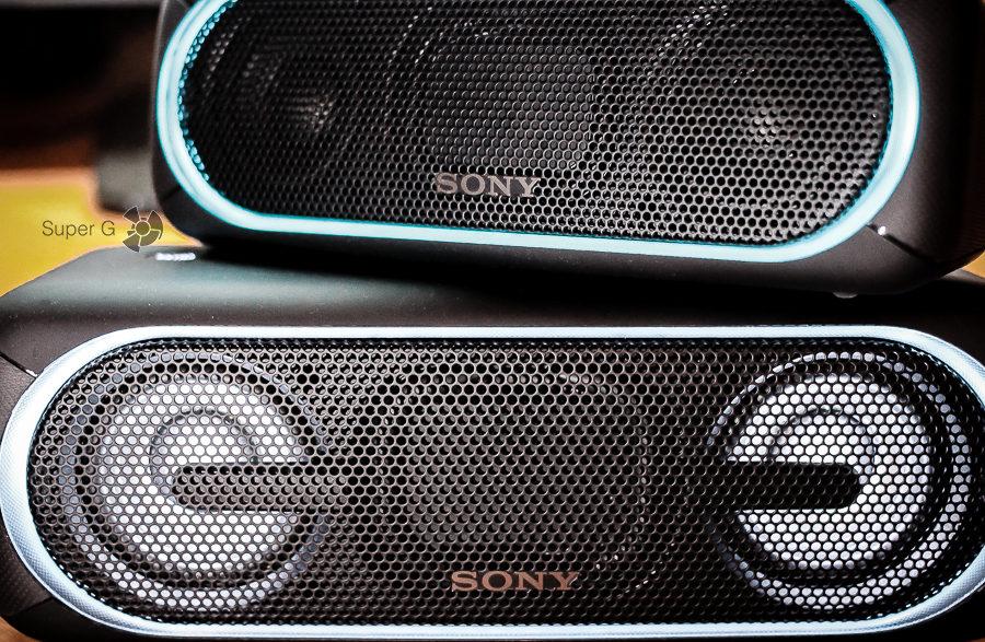 Дизайн колонок Sony SRS-XB30 и SRS-XB40