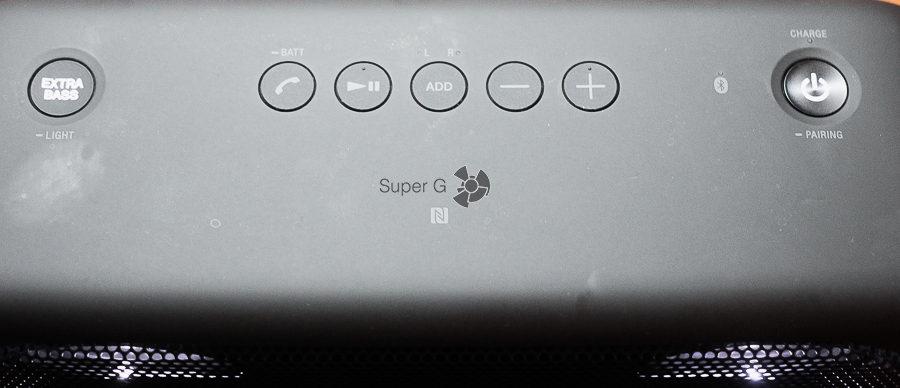 Кнопки управления Металлическая сетка Sony SRS-XB30 и SRS-XB40