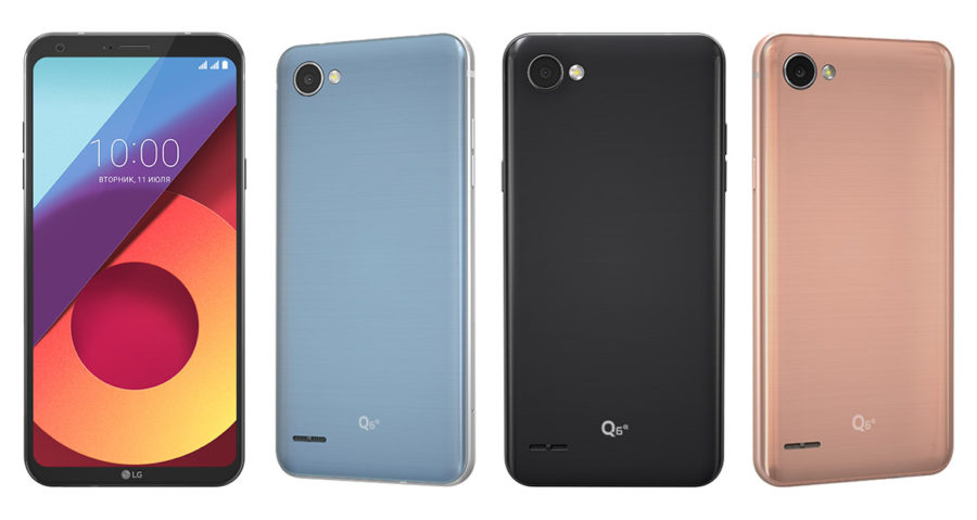 Смартфон LG Q6 цвета