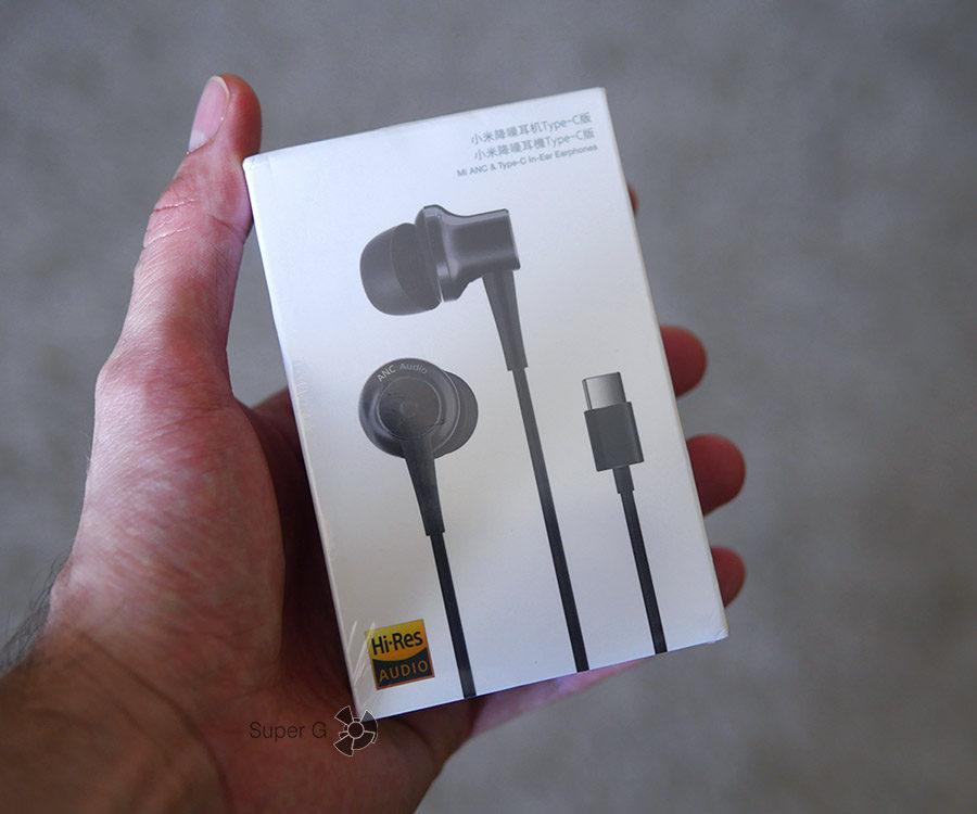 Коробка из-под наушников Xiaomi Mi ANC & Type-C In-Ear Earphones
