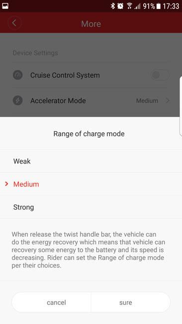 Настройка рекуперации Xiaomi Mijia M365 в приложении MiHome