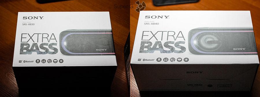 Комплектация Sony SRS-XB30 и SRS-XB40