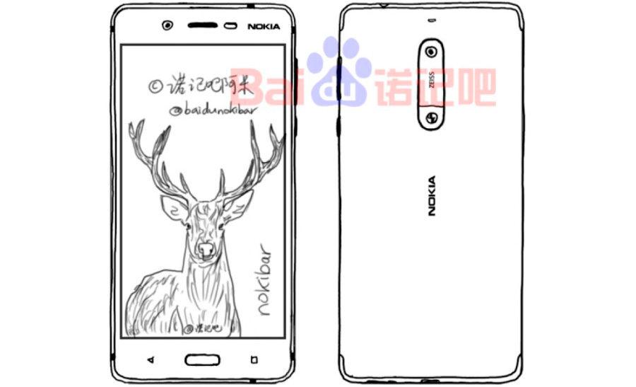Nokia 8 дизайн
