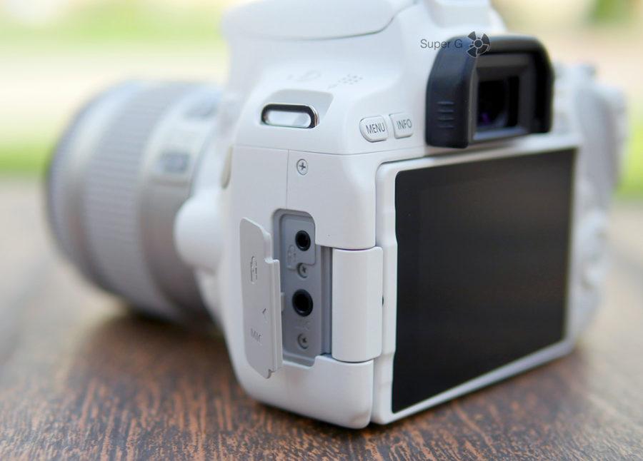 Разъёмы Canon 200D