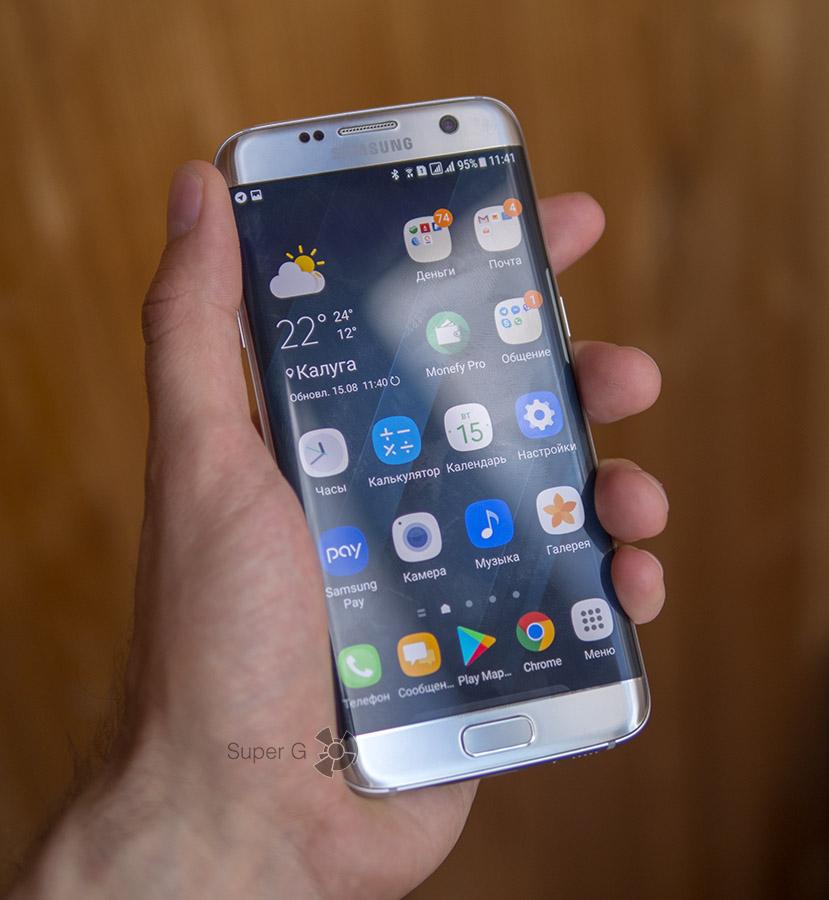 Олеофобное покрытие Samsung Galaxy S7 Edge слезает через три недели