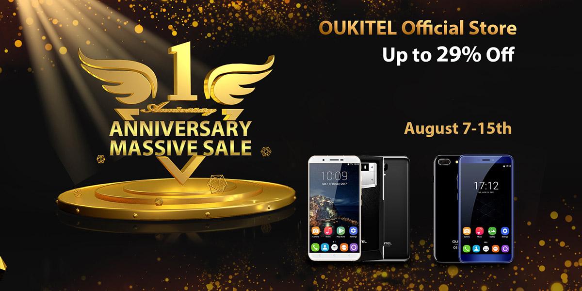 Официальному магазину Oukitel год! Про нас не забыли