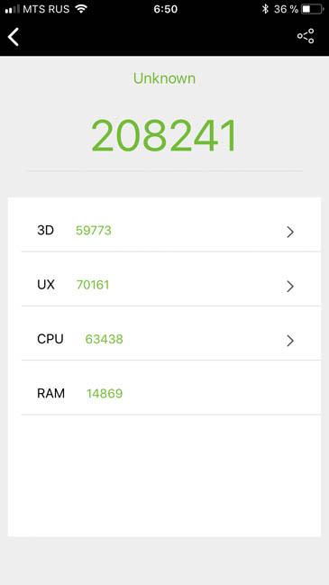 Тест производительности iPhone 8 в AnTuTu