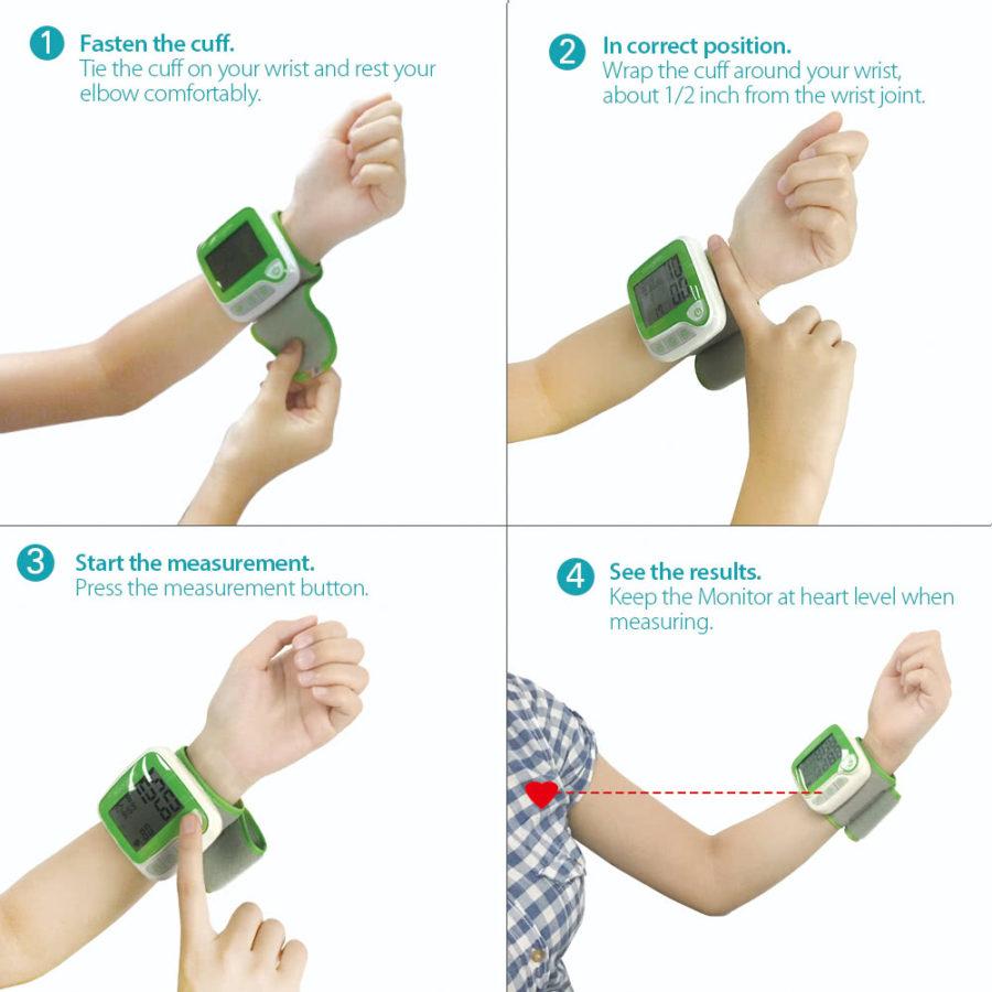Памятка о правильном расположении руки Koogeek BP1