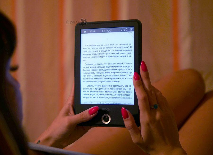Экран ONYX BOOX Cleopatra 3 с голубой подсветкой