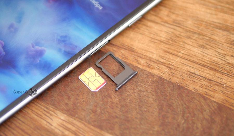 Лоток под SIM-карту Nano в iPhone 8