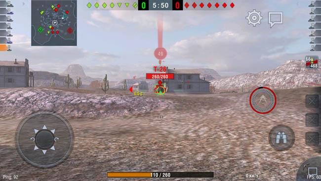 Игра Wordl of Tanks Blitz идёт на Honor 6A на высоких настройках графики