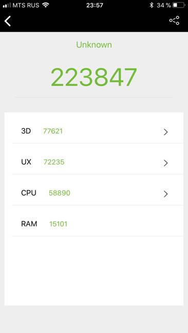 Тест производительности iPhone 8 Plus в AnTuTu