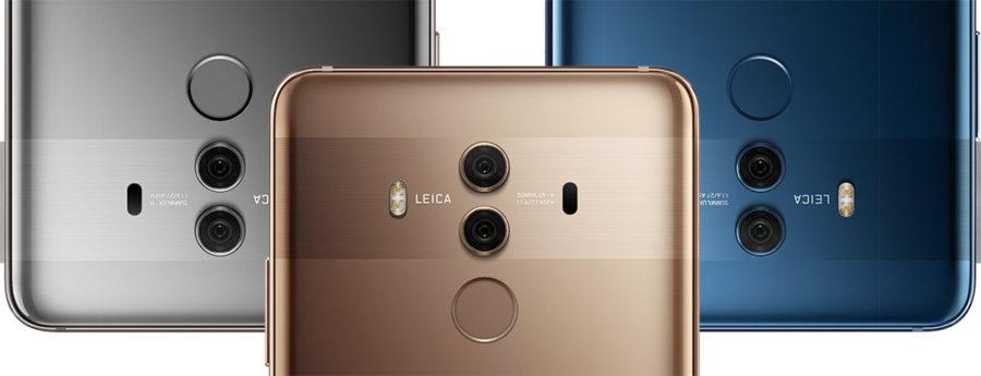 Сканер отпечатков пальцев в Huawei Mate 10 Pro на задней стороне