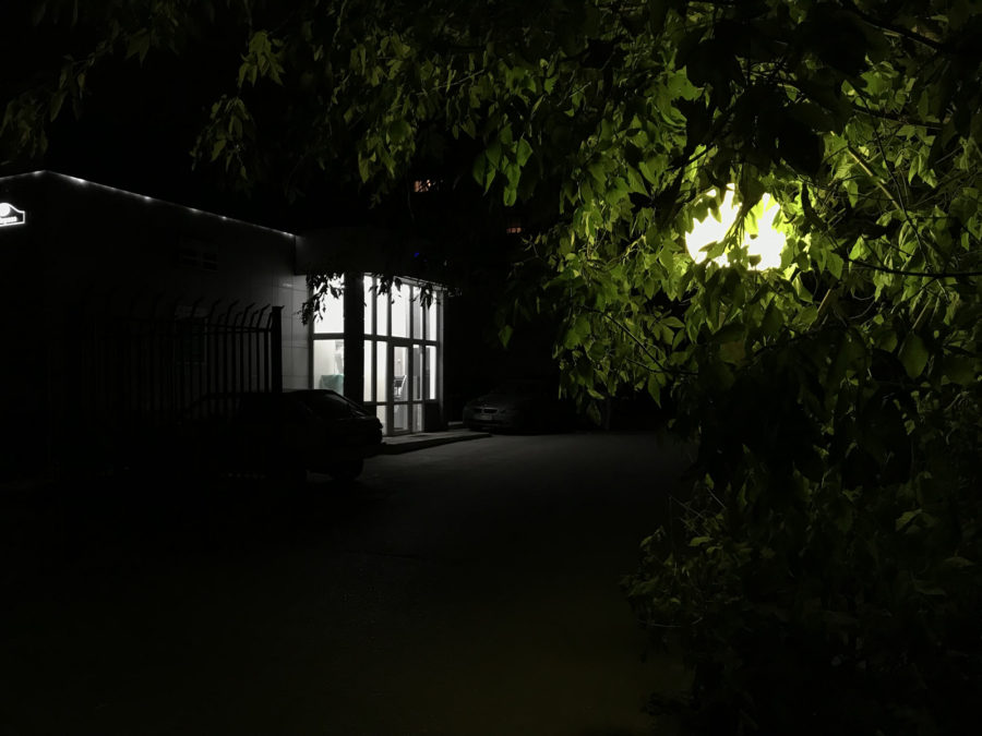 iPhone 7 Plus - пример фото, снятого ночью