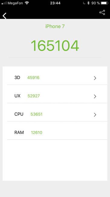 Тест производительности iPhone 7 в AnTuTu