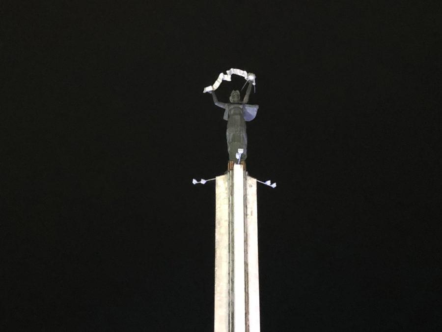 iPhone 8 Plus - пример фото с оптическим 2x зумом (ночь)
