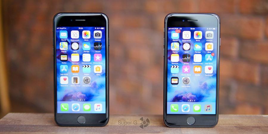 Обзор-сравнение iPhone 7 и iPhone 8 (справа)