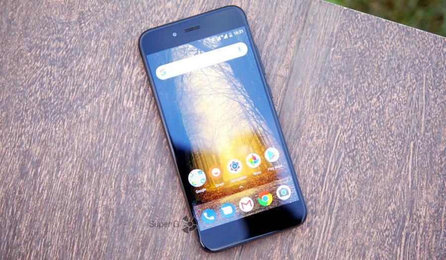 Дисплей Xiaomi Mi A1 на солнце