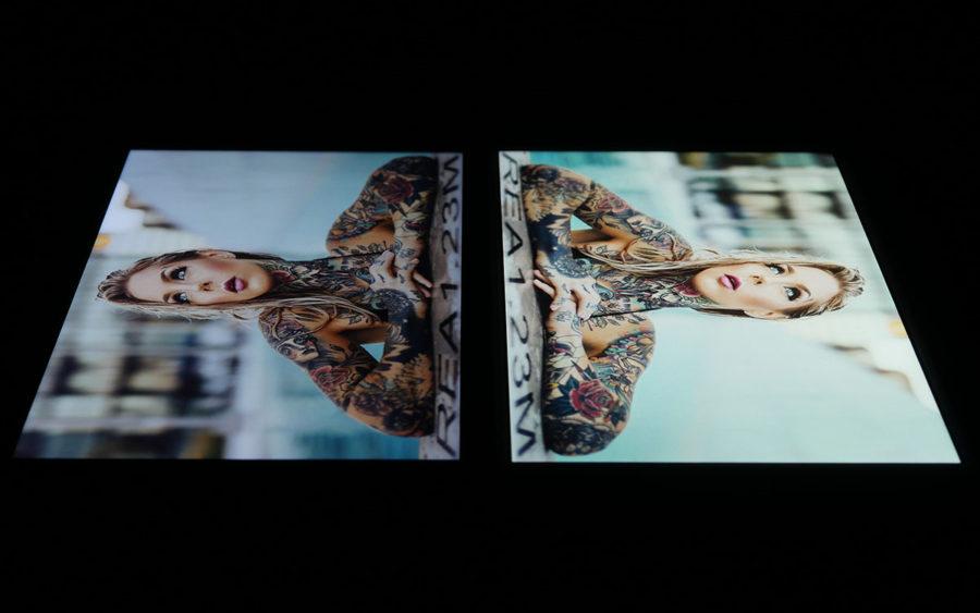 Сравнение экранов Xiaomi Mi A1 (слева) и Meizu M6 Note (справа) - под углом 2