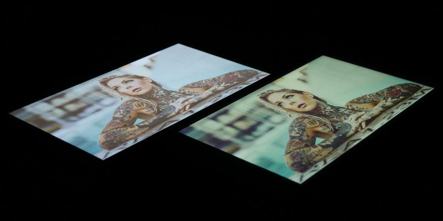 Сравнение экранов Xiaomi Mi A1 (слева) и Meizu M6 Note (справа)