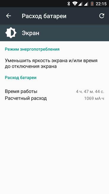 Расход энергии дисплеем Xiaomi Mi A1
