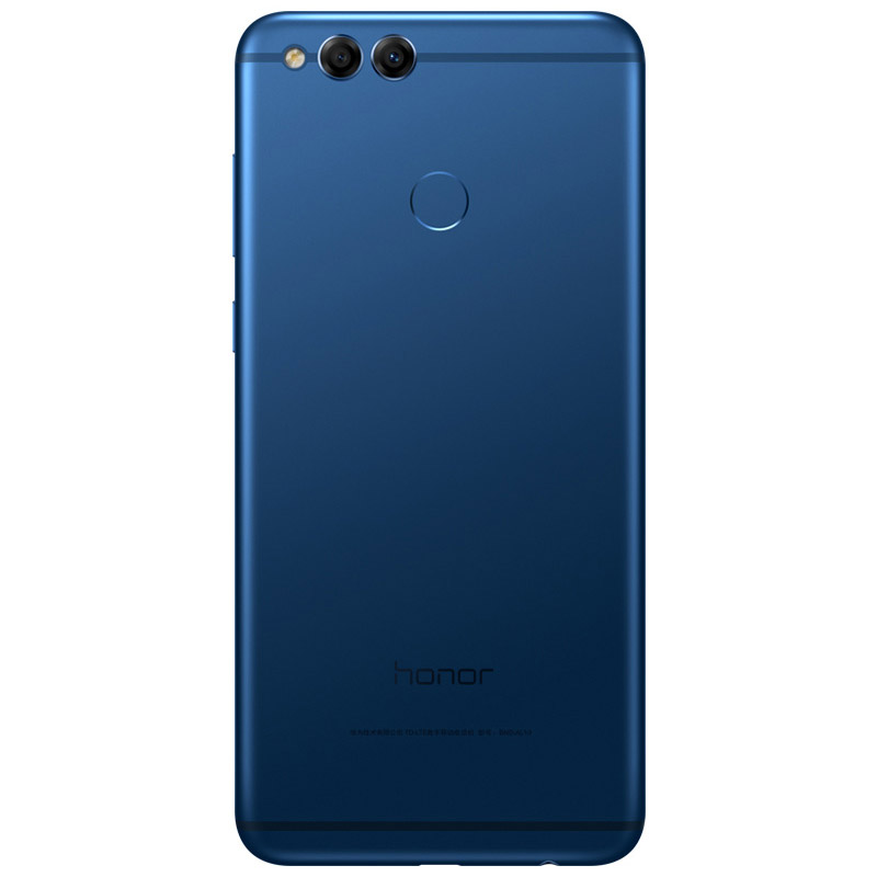 Honor 7X синий (вид сзади)
