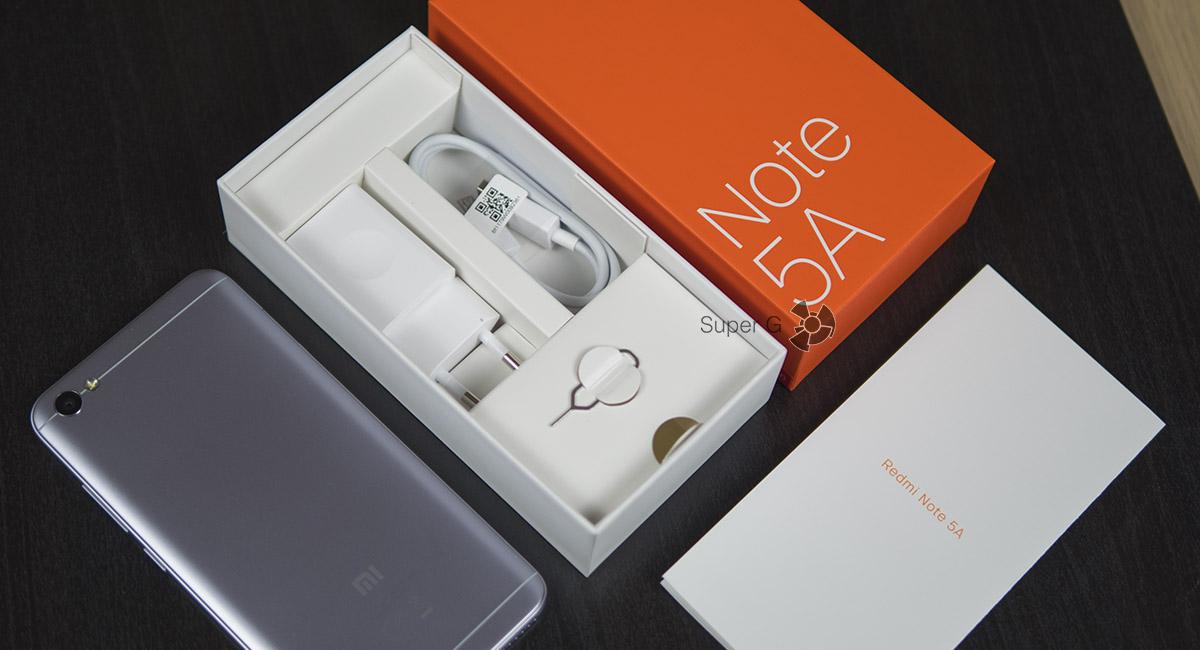 Комплектация Xiaomi Redmi Note 5A