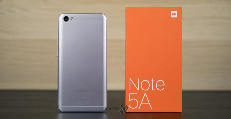 Xiaomi Redmi Note 5A и коробка из-под смартфона